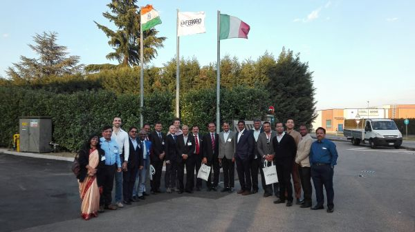 Visit of Indian delegation at Ferraro SpA