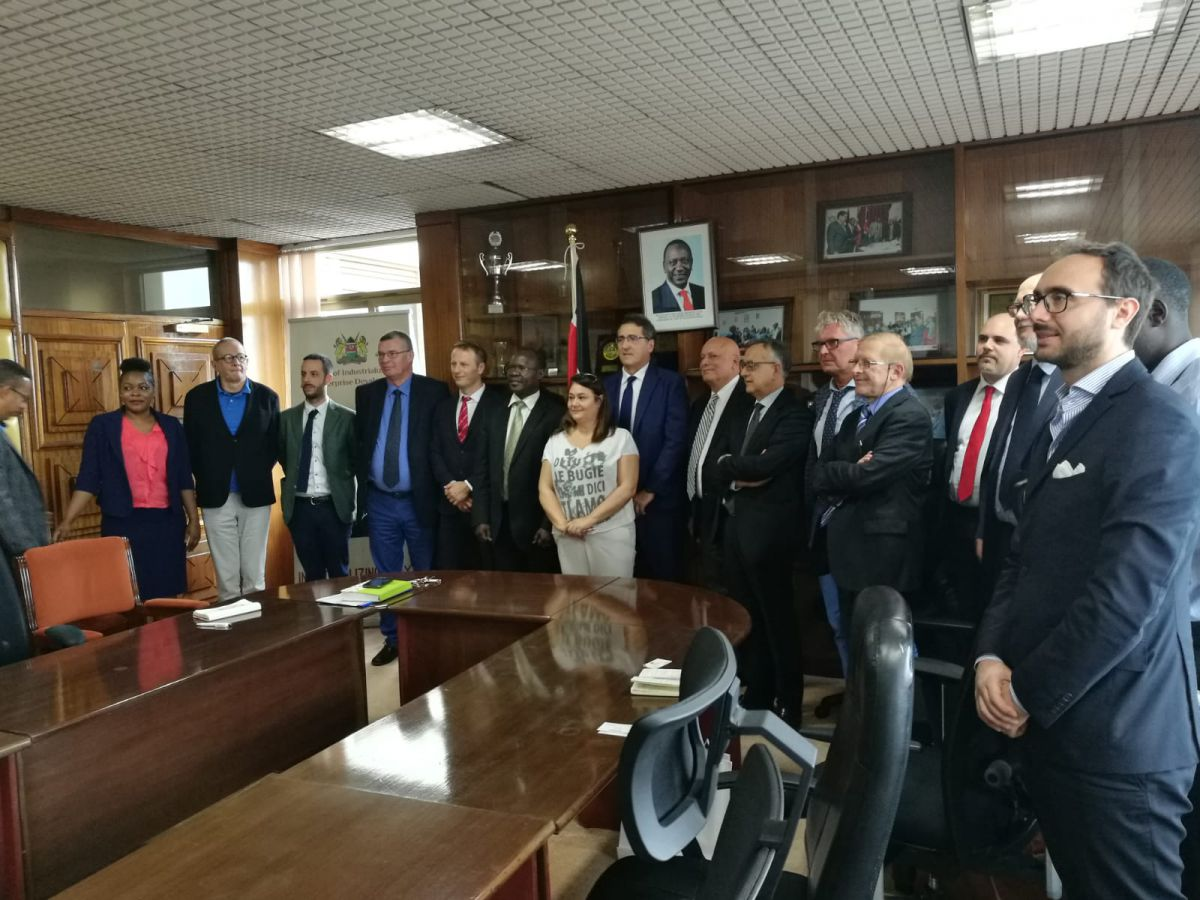 Institutional mission of the Italian textile machinery in Kenya and Tanzania