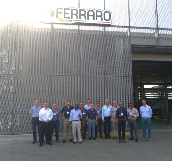 Visit of South African delegation at Ferraro SpA